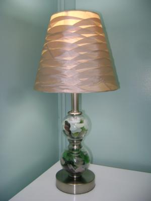 seaglass lamp
